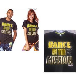 ZUMBA T-SHIRT DANCE IS THE MISSION XL/XXL